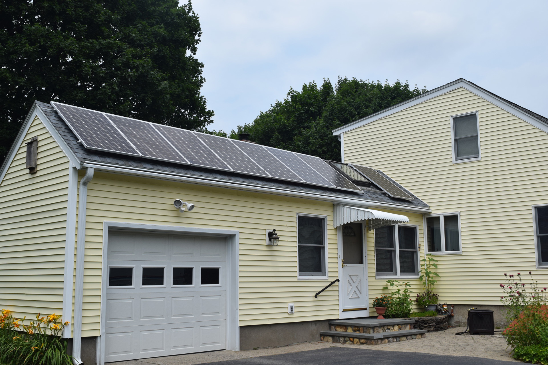 Solar panels on a residential property