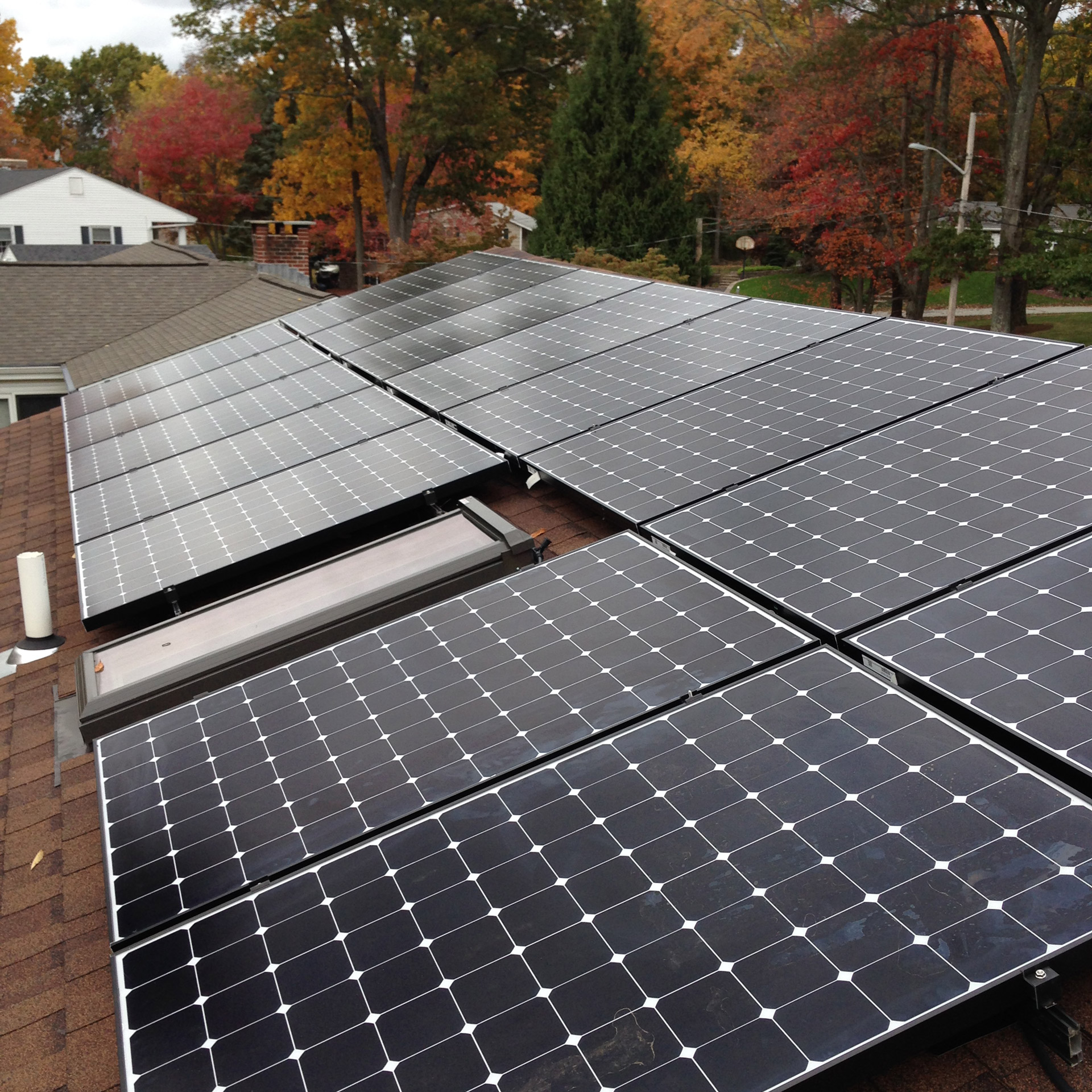 Residential solar array in Cumberland, RI